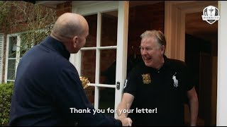 Ryder Cup Europe Captain Thomas Bjorn surprises unsuspecting fan at his house