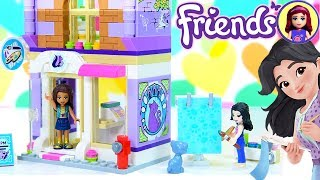 Lego Friends Emma's Art Studio Build with Silly Play
