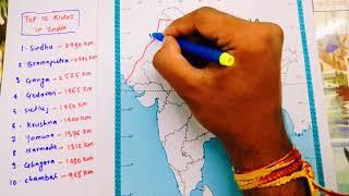 Top 10 Rivers in India with length and map location in Hindi | UPSC cмотреть видео онлайн бесплатно в высоком качестве - HDVIDEO