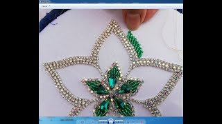 Hand Embroidery  Beads Work; Flower Embroidery With Beads