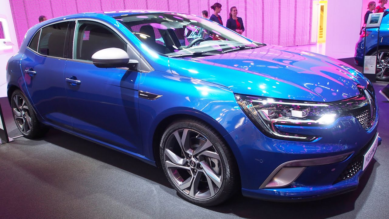 2016 renault megane gt 5d energy tce 205 edc 151 kw iron blue exterior and interior walkaround. Black Bedroom Furniture Sets. Home Design Ideas