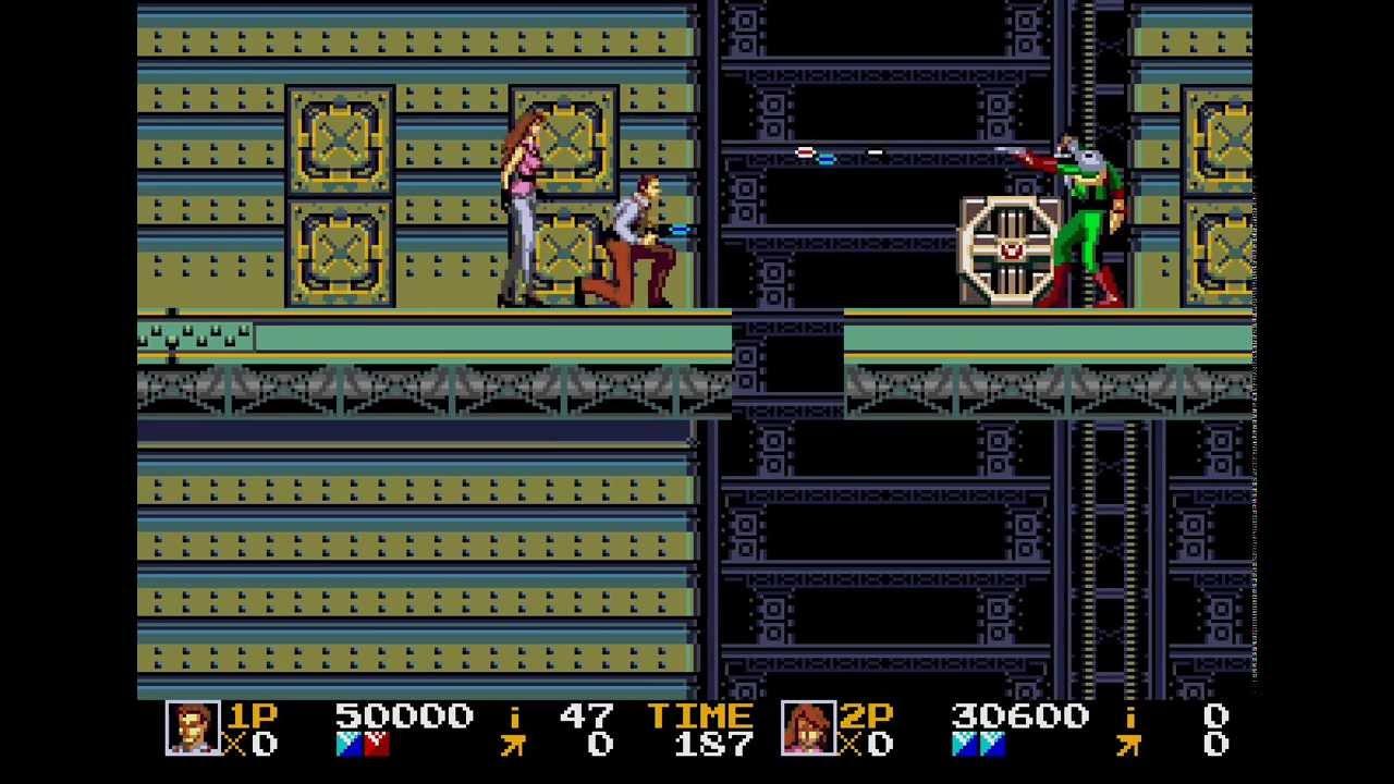 Rolling Thunder 2 Sega Genesis 2 player Netplay game
