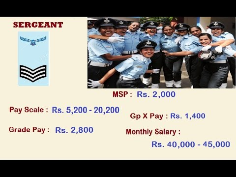 Indian Air Force Ranks & Monthly Salary 2017 ( Ground Staff Entry )