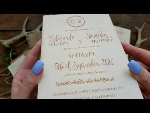 Wedding Invitations made from wood