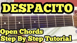 Despacito Guitar Chords Lesson in Hindi   Easy Open Chords  Justin Beiber   Luis Fonsi Daddy Yankee