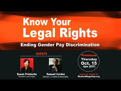 Know your Legal Rights: Ending Gender Pay Discrimination