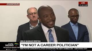 DA Federal Executive | Mmusi Maimane's resignation speech [FULL]