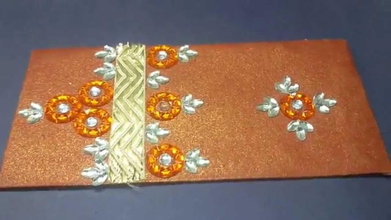 diy hand made decorative envelope idea youtube