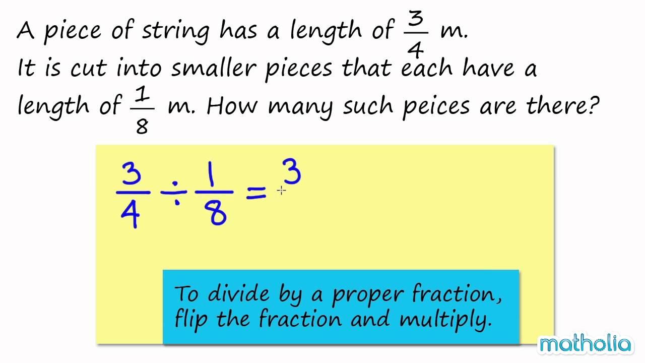 Division Of A Proper Fraction By A Proper Fraction