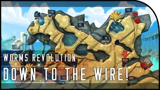 """Worms Revolution Multiplayer Gameplay Part 2 - """"DOWN TO THE WIRE!"""""""