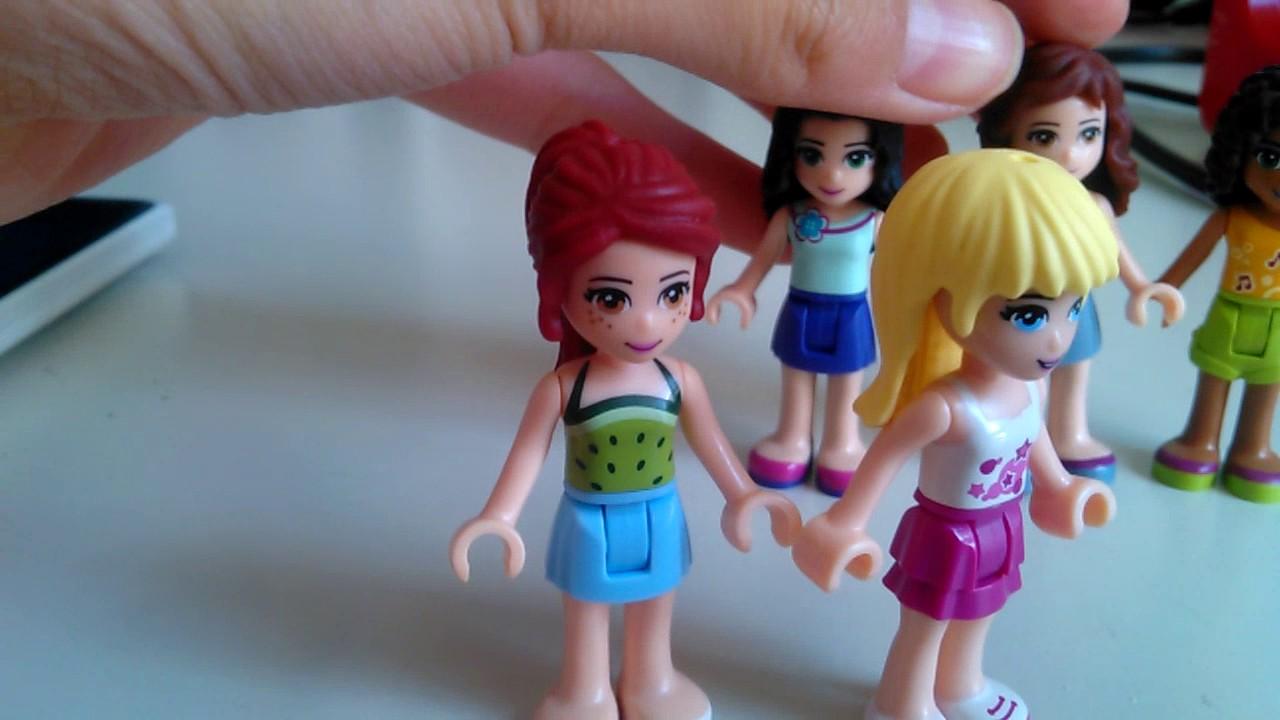 5 Lego friends Figuren - YouTube