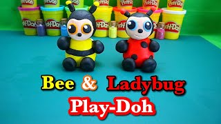 How to make super easy and cute Bee and Ladybug Play-Doh