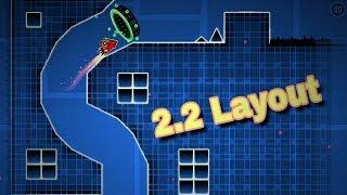 "Geometry dash 2.2 layout | ""Fly Away"""