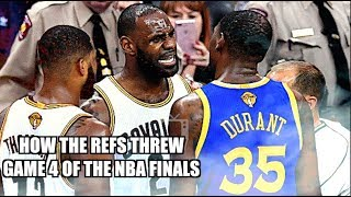 How the refs THREW Game 4 of the NBA Finals! (Rigged)
