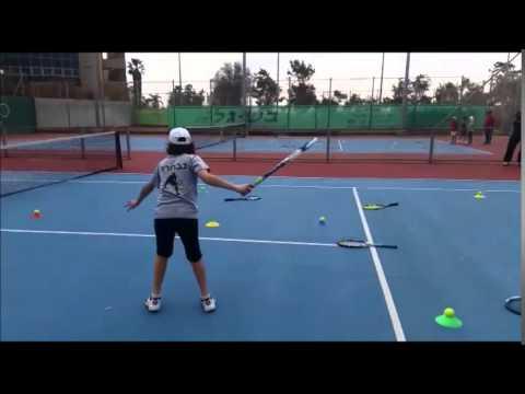 Wertheim Academy oco training with  kid in Tennis
