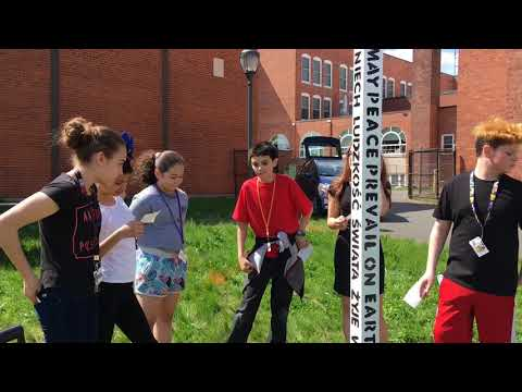 Students at Dupont Middle School in Chicopee dedicate a peace pole