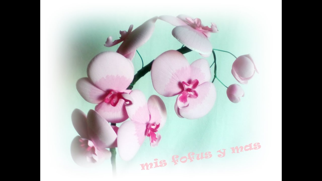 Flores goma eva orquideas youtube - Flores de goma eva ...