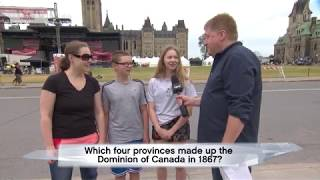 Which four provinces made up the Dominion of Canada in 1867?