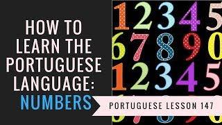 how to learn Portuguese (numbers)