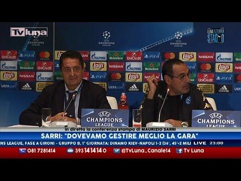 Interviste Dinamo Kiev-Napoli 1-2: Sarri e Rebrov - 1a Champions League 13/09/16