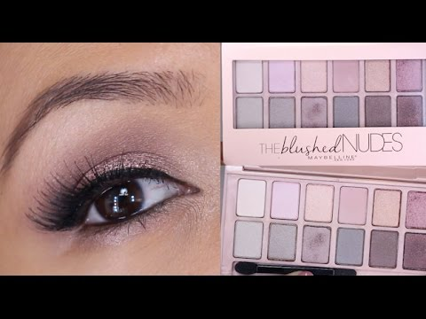 Fresh Maybelline The Blushed Nudes Palette Tutorial