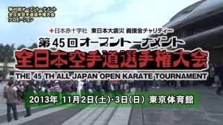 2013年11月2日・3日に東京体育館で行われる第45回全日本大会のプロモー...