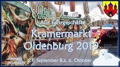 🎢 Alle Fahrgeschäfte | Kramermarkt Oldenburg (2019)