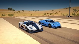 Koenigsegg REGERA vs. Koenigsegg ONE:1 Drag Race | Forza Horizon 3