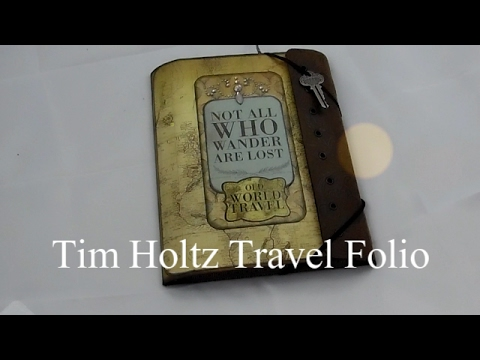 Tim Holtz Travel Folio