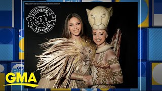 Beyonce meets Broadway Nala actress | GMA thumbnail