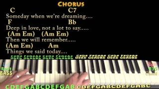 Things We Said Today (The Beatles) Piano Cover Lesson with Chords/Lyrics