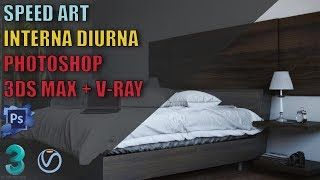 Making Off - 3d Bedroom - 3dmax/vray/photoshop