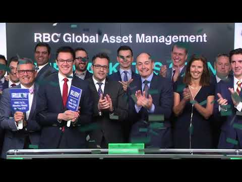 RBC Global Asset Management opens Toronto Stock Exchange, May 18, 2018