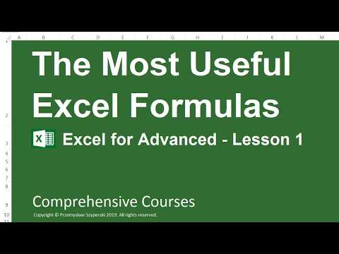 The Most Useful Excel Formulas - Excel for Advanced - Lesson 1
