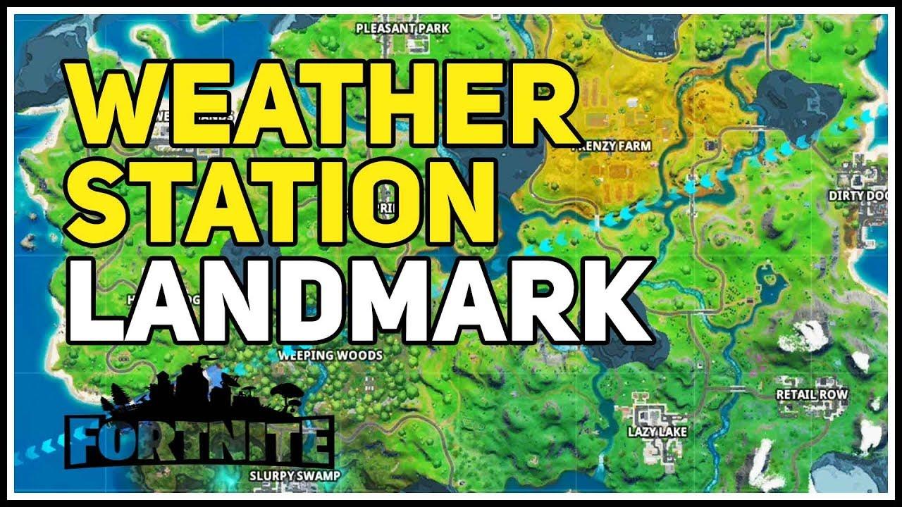Weather Station Landmark Fortnite Chapter 2