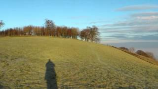 Chanctonbury ring skoro ráno v Decembri