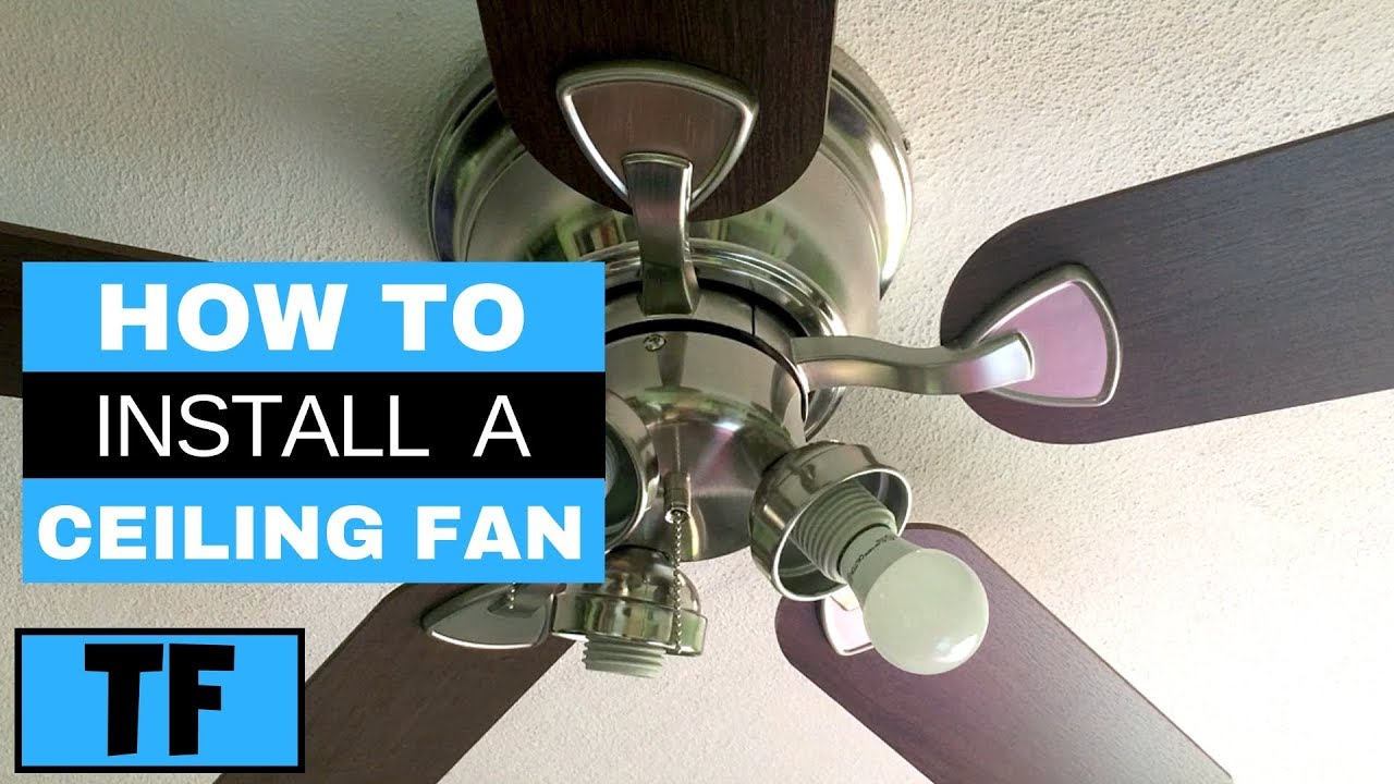 Harbor Breeze Ceiling Fan From Lowes Installation Steps Diy How To Replace Old Fan Youtube