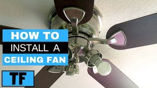 Harbor Breeze Ceiling Fan From Lowes Installation Steps (DIY How To Replace Old Fan)