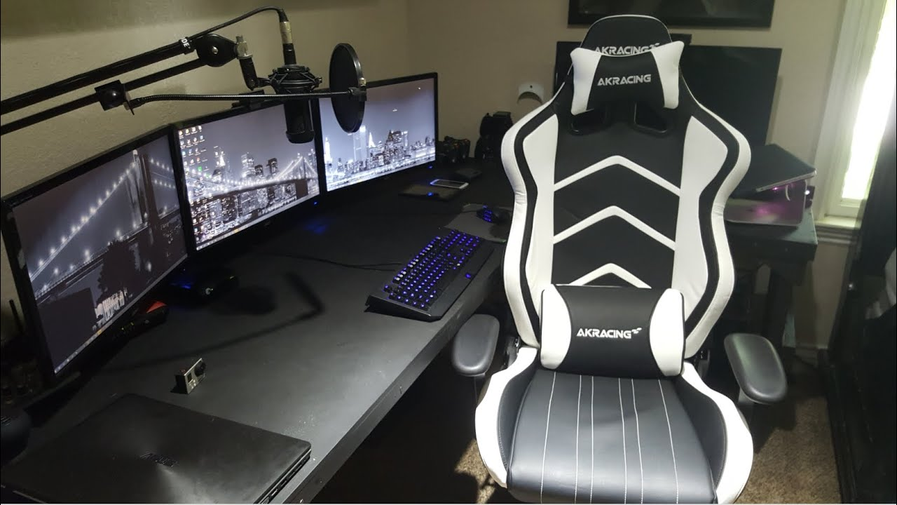 Ak Racing Chair Hanging Double Akracing (ak-6014) Gaming Review - Black/white Edition Youtube