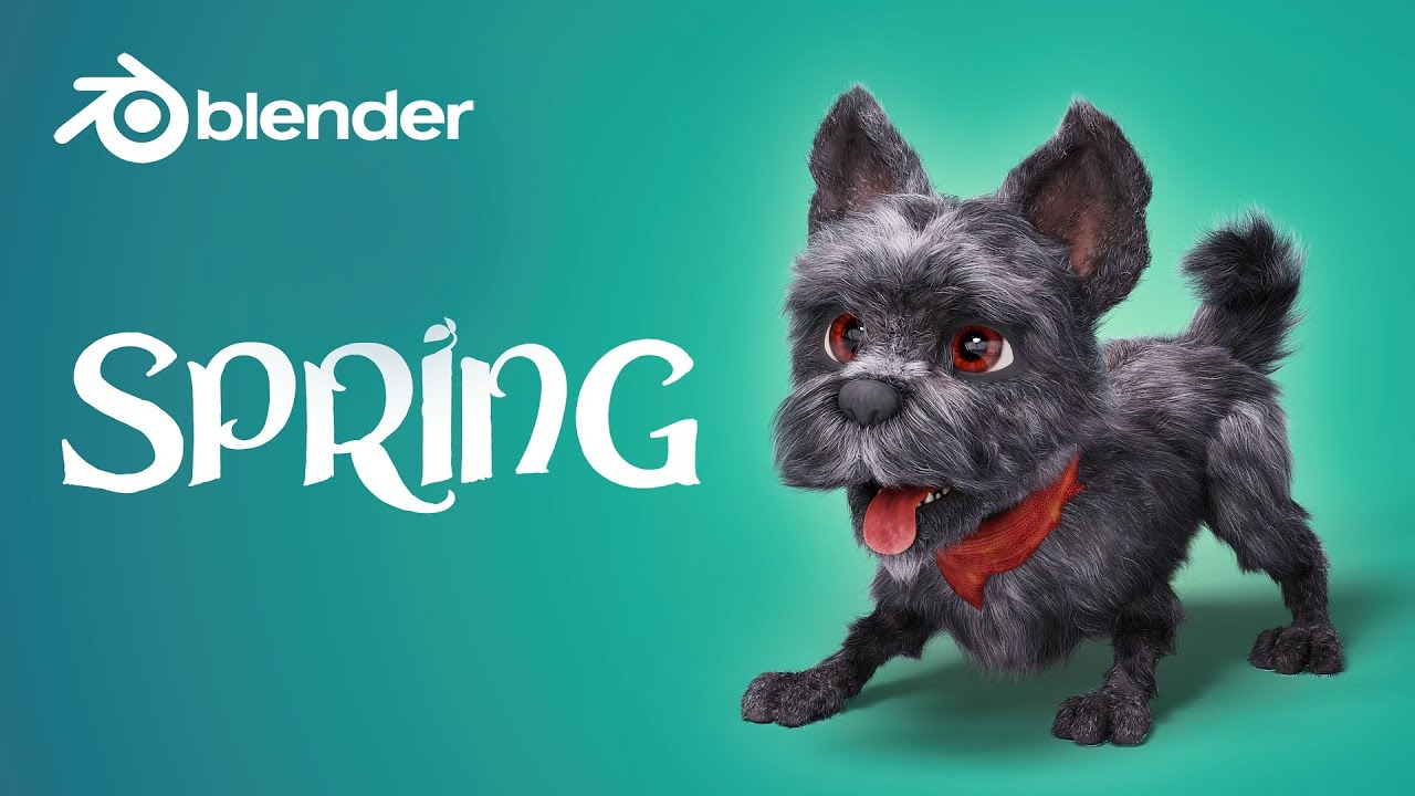 spring blender open movie