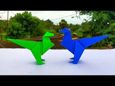 How to Make Easy Paper Dinosaur || Origami Dinosaur || DIY