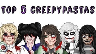 TOP 5 CREEPYPASTA FEMENINOS JUDGE ANGELS LULÚ ZERO VAILY EVANS CLOCKWORK | Draw My Life