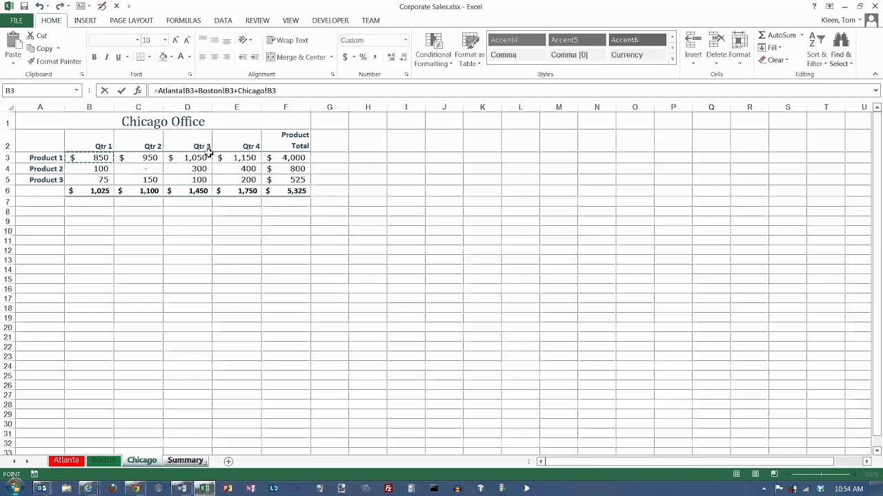 Excel 3d Formulas And Printing