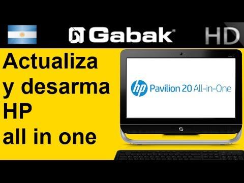 Desarmando HP all in one ms210la y actualizando (disco rigido - memoria)