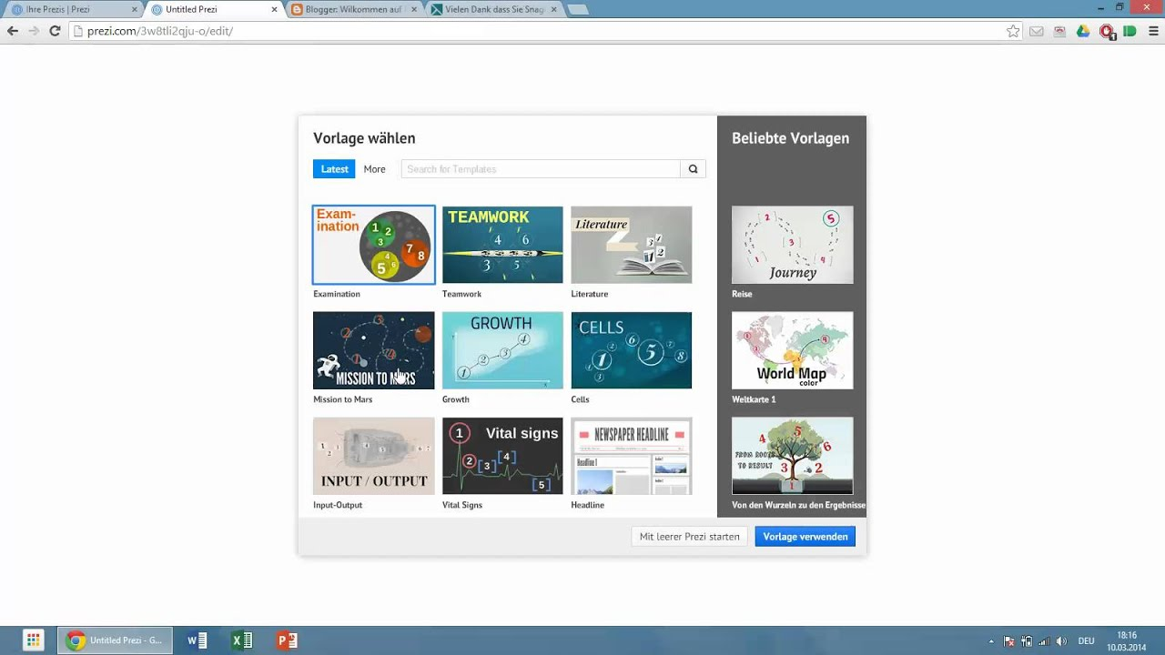 Prezi-Tutorial 01: Neues Prezi erstellen - YouTube