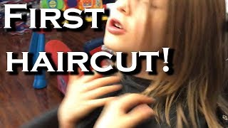 Autistic Girl's First Haircut | Guiding Autism Family Vlog