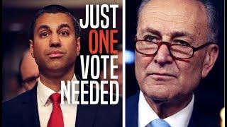 Just ONE MORE Senator Needed to Restore Net Neutrality, Undo FCC's Repeal