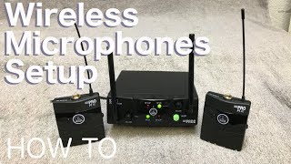 Setting up a Wireless Microphone System (how to) AKG WMS40