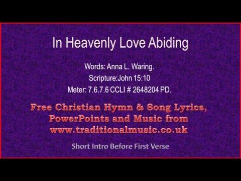 In Heavenly Love Abiding(MP331) - Hymn Lyrics & Music
