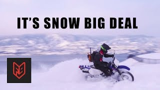 How To Ride A Motoŗcycle In Deep Snow - A Canadian Explains